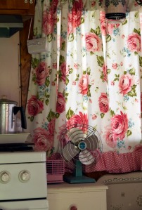 Tailer pink curtains