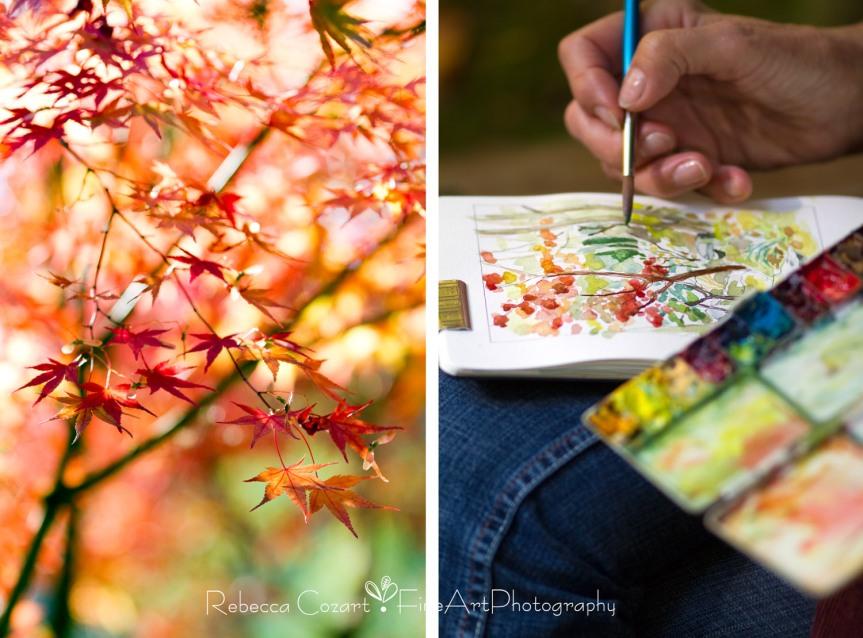 Painting in Garden