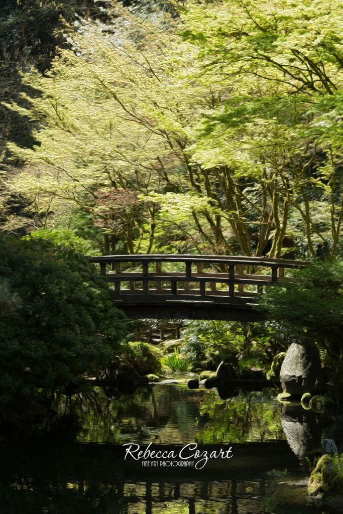 FB - Japanese Garden Bridge oil paint