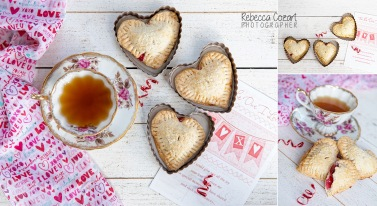 COLLAGE - Heart Cookies and tea