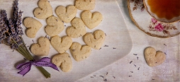 FOOD - Lavender shortbread cookies with overlay