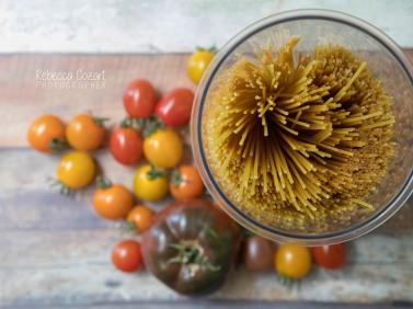 STILL LIFE - Tomatoes and Pasta Jar