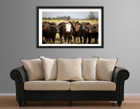 MOCKUP - couch with cow picture
